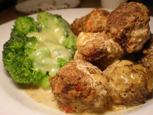 Lavkarbo kjøttboller med paprika og hvitløk