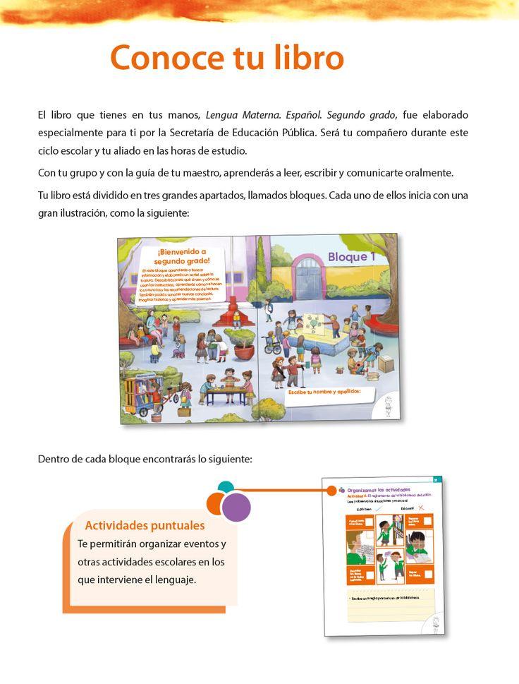 Lengua materna. Español. Segundo grado. Libro de Primaria
