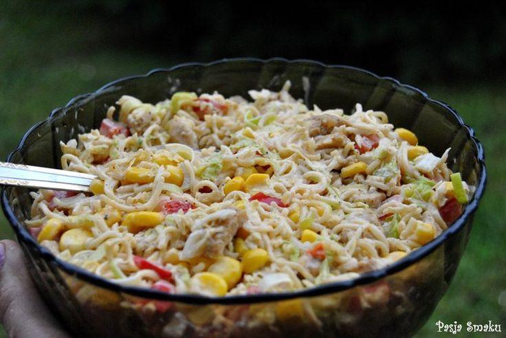 Sałatka z zupek chińskich - PRZEPIS