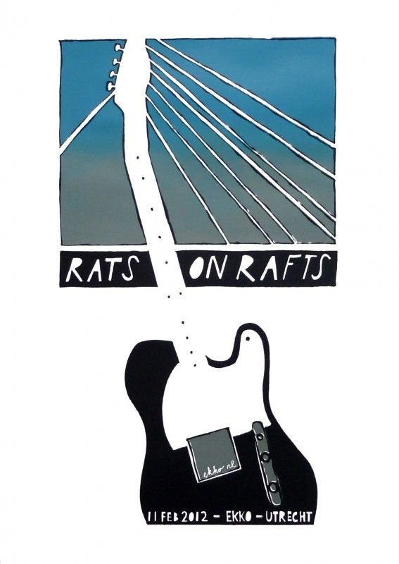 Rats On Rafts | GIG POSTERS | jorisdiks