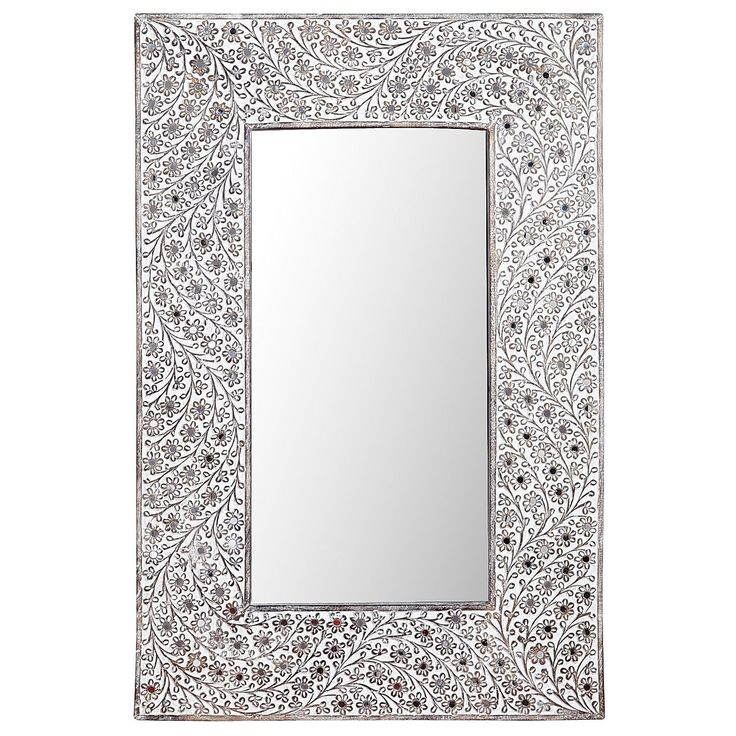 Akil Carved Mirror | Pier 1 Imports Would this finish look better in 1/2 bath since the vanity is white with silver in it?
