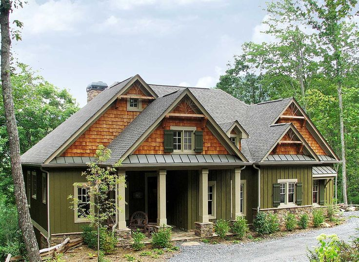 Plan 15655ge rustic lodge home plan craftsman pull up Craftsman lake house
