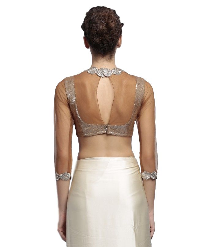 Designer Saree in Ivory Color – Panache Haute Couture