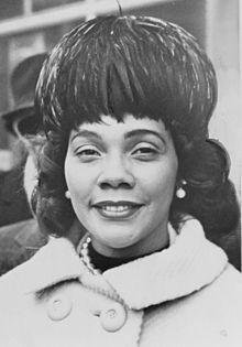 Coretta Scott King was an American author, activist, and civil rights leader. The widow of Martin Luther King, Jr., Coretta Scott King helped lead the African-American Civil Rights Movement in the 1960s.