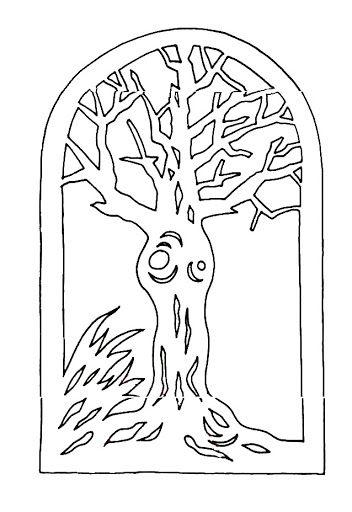 Őszi fa filigrán