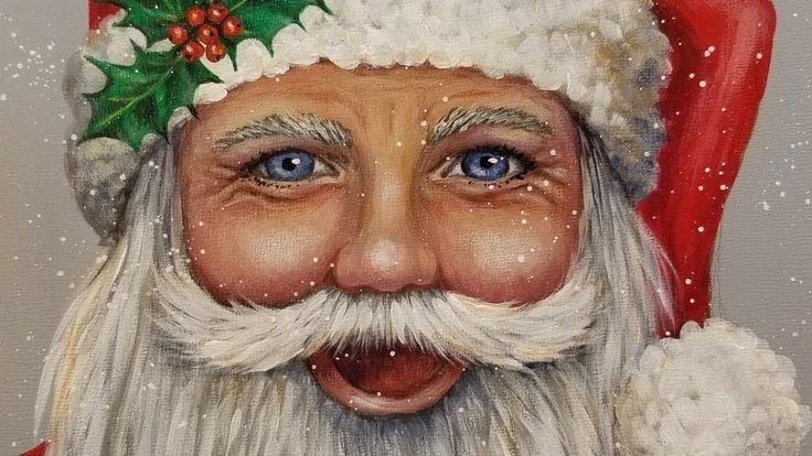 Learn to Paint Santa Claus Portrait Step by Step Acrylic Painting Tutorial - YouTube