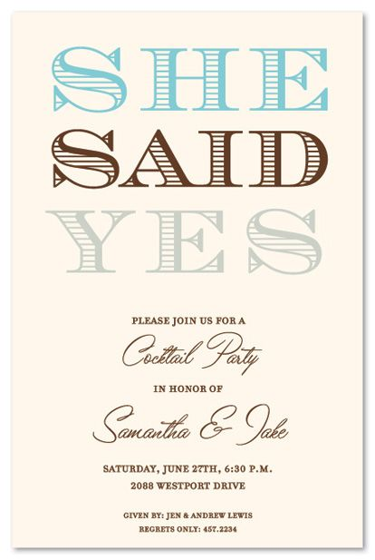 40 best Engagement party invitations images on Pinterest - how to word engagement party invitations
