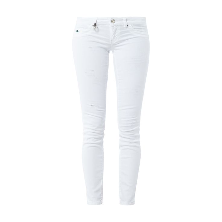 #ONLY #Used #Look #Skinny #Jeans für #Damen - Damen-5-Pocket-Jeans von Only, Baumwoll-Elasthan-Mix, Used Look, Skinny Fit, Knopf- und Reißverschluss, Label-Patch, Innenbeinlänge bei Größe 27/30: 73 cm, Bundweite bei Größe 27/30: 74 cm