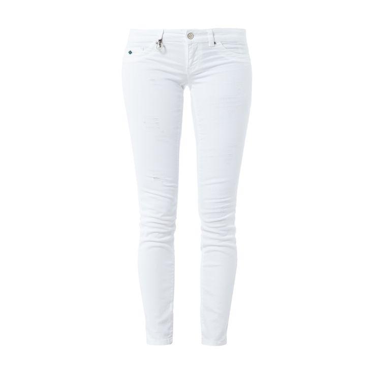 #ONLY #Used #Look #Skinny #Jeans für #Damen - Damen-5-Pocket-Jeans von Only, Baumwoll-Elasthan-Mix, Used Look, Skinny Fit, Knopf- und Reißverschluss, Label-Patch, Innenbeinlänge bei Größe 27/30: 73 cm, Bundweite bei Größe 27/30: 74 cm