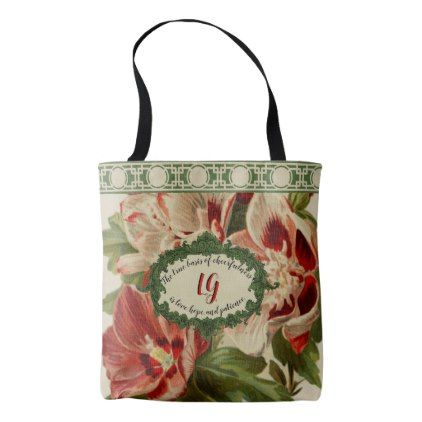 Floral Tote Bags Grandmotheru0027s Garden   Floral Style Flower Flowers Stylish  Diy Personalize