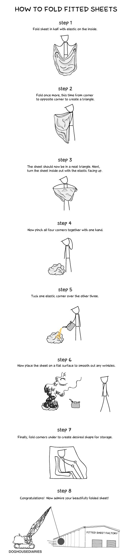 Instructions For Folding a Fitted Sheet