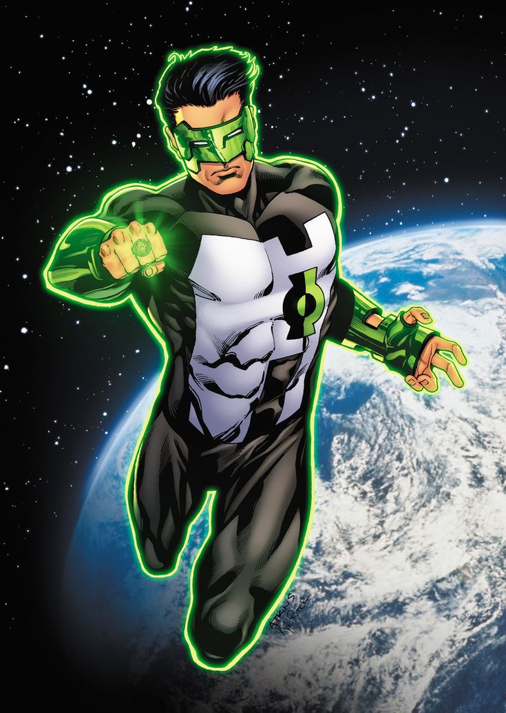 Green Lantern Kyle Rayner - my favorite, a cartoonist and graphic designer becomes the last Green Lantern in the universe and his creativity is everything.