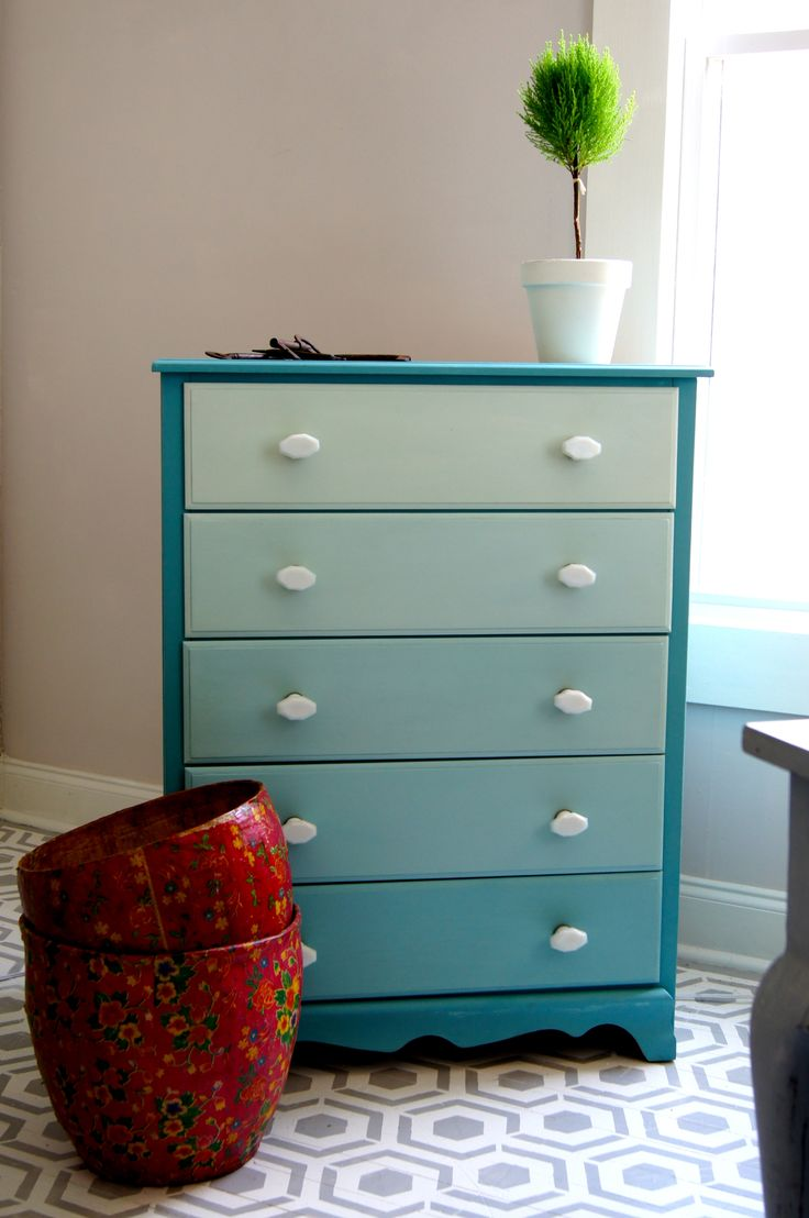an ombre'd dresser - see 'upstyle your furniture' for a tutorial and all the details! || me & mrs. jones, memphis