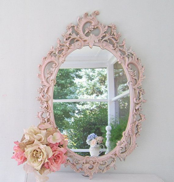 SHABBY CHIC MIRROR Baby Girl Nursery Regency by RevivedVintage,