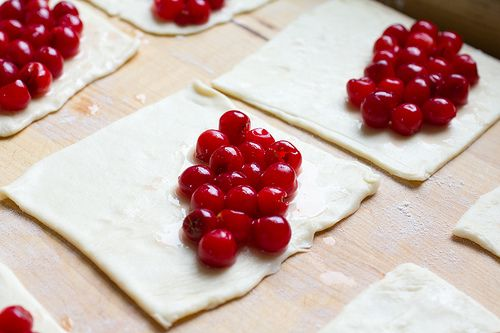 Sour Cherry Turnovers - uses fresh sour cherries and includes a cream ...