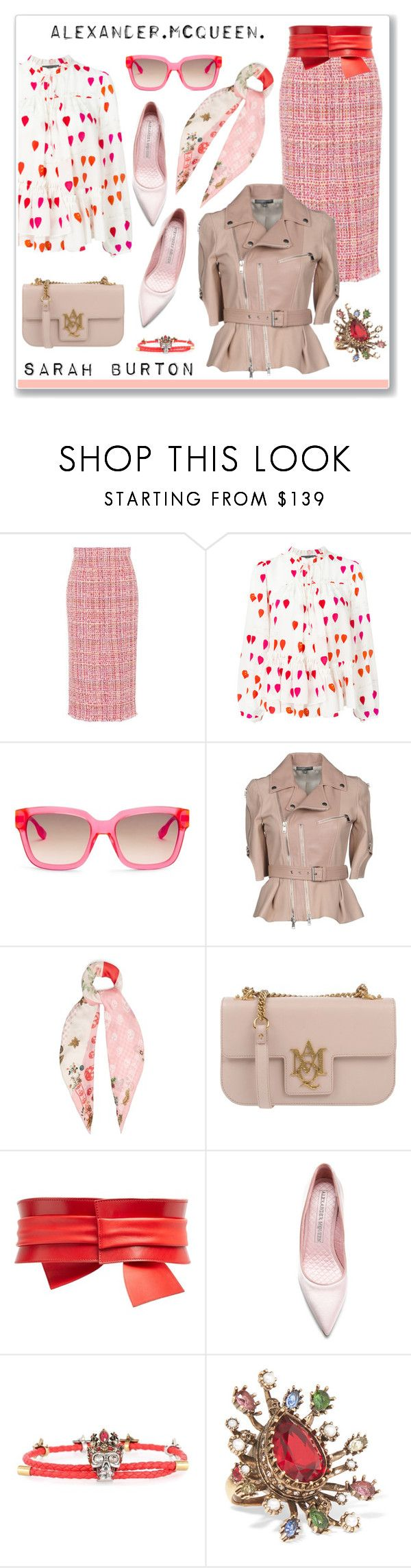 """Sarah Burton"" by hellodollface ❤ liked on Polyvore featuring Alexander McQueen, internationalwomensday, pressforprogress, FemaleDesigners and ByWomenForWomen"