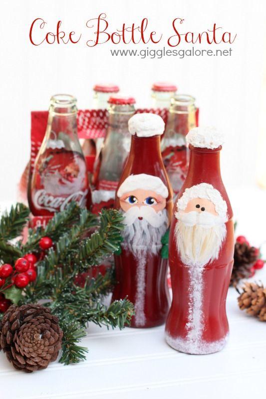 Coke Bottle Santa www.gigglesgalore.net