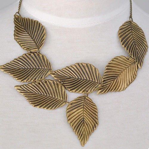 Bronze Colour #WOMEN'S GIRL Temperament #Leaves #Pattern #Pendant #Necklace Price $9.95