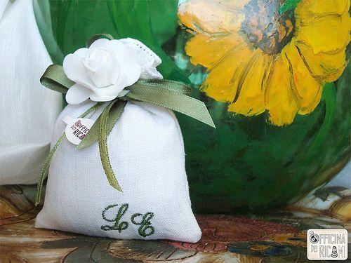 """Wedding Confetti's bag - Sacchetti porta confetti matrimonio - Mod: """"GELSOMINO"""" - Officina dei Ricami"""