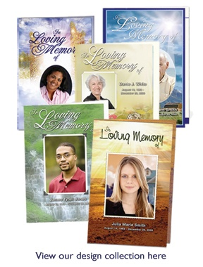 Free Simple Funeral Program Template Download With No Background Image For  Bifold Letter Single Fold Format