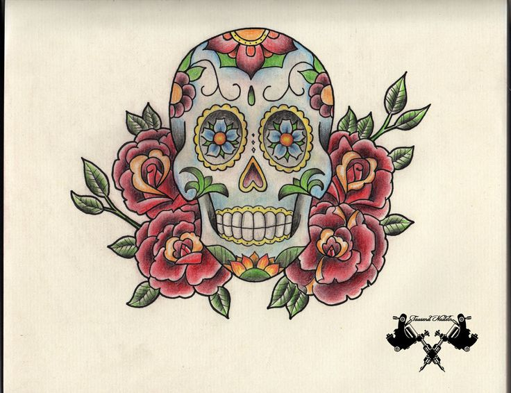 33 best Candy Skull Tattoo Flash Art images on Pinterest ...