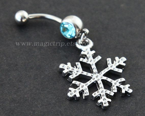 chrome hearts online store silver snowflake Belly Button Rings  snow belly button ring  nautical jewelry  winter Christmas snow belly button ring on Etsy   4 99