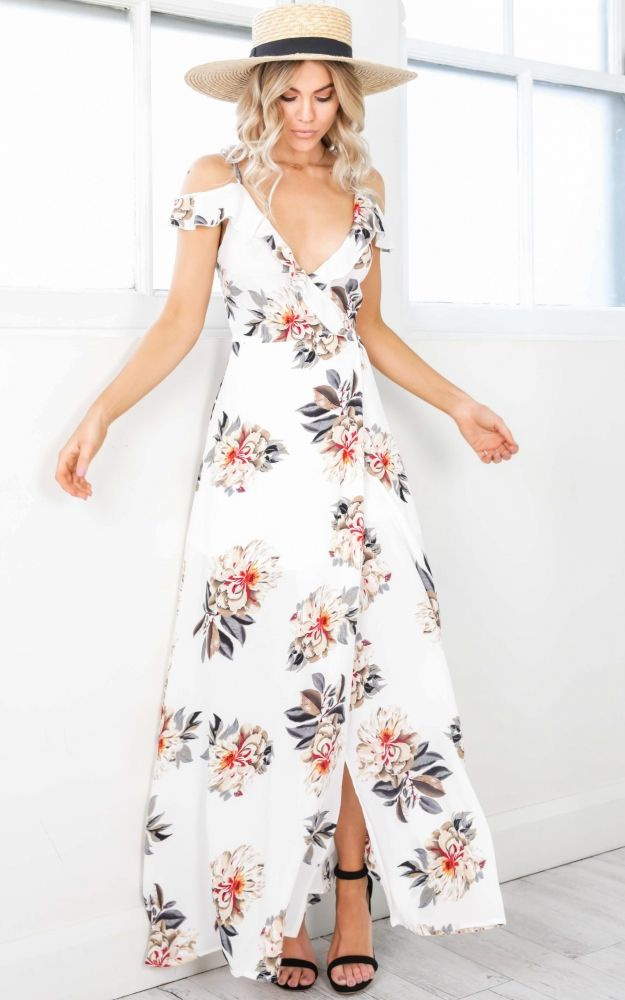 253 best delicious dresses images on pinterest spring summer you like me too much maxi dress in white floral showpo fashion online mightylinksfo
