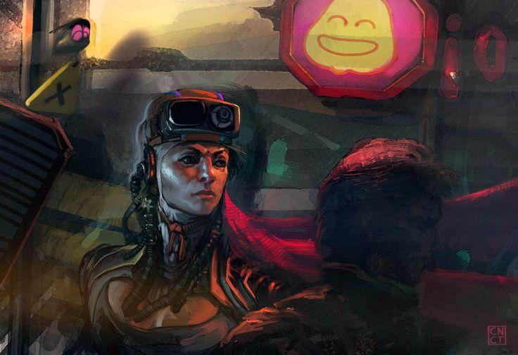 """Cyberpunk"" por CarlosNCT en Deviantart.com. Licencia Creative Commons Attribution-Noncommercial-No Derivative Works 3.0."