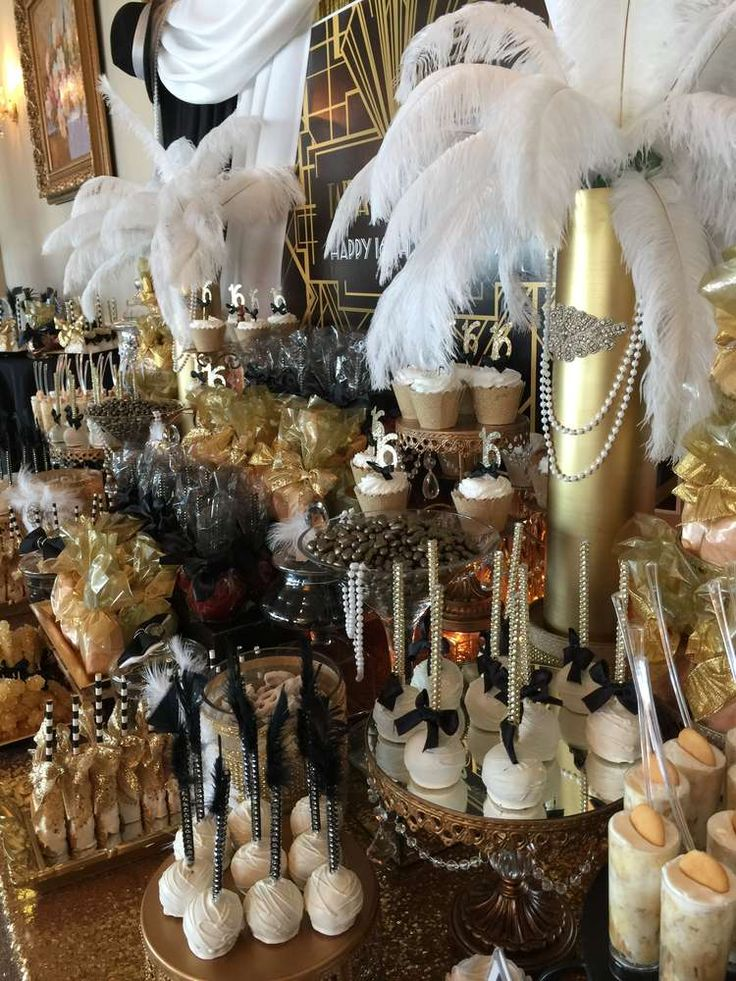 Great Gatsby Birthday Party Ideas in 2019 For the Sweet