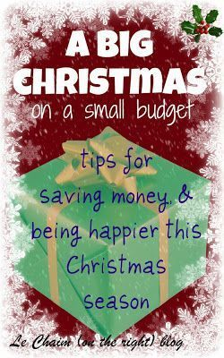 A BIG Christmas on a Small Budget #Christmas | Le Chaim (on the right) blog Christmas Planning,Christmas,Christmas budget,#holiday
