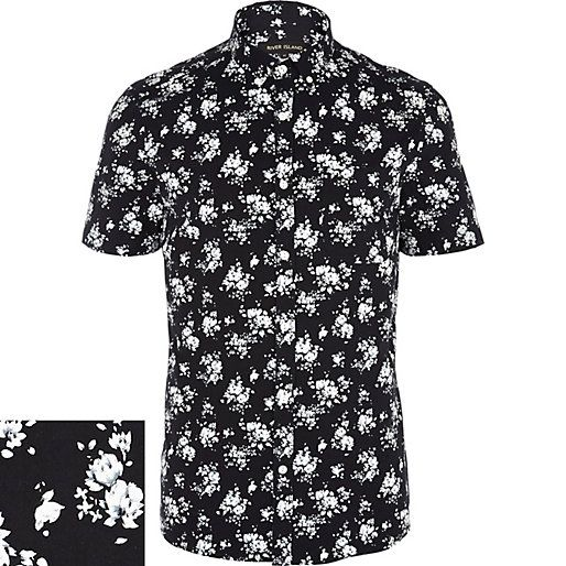 Pin by alex on shirts pinterest for Black and white short sleeve shirts