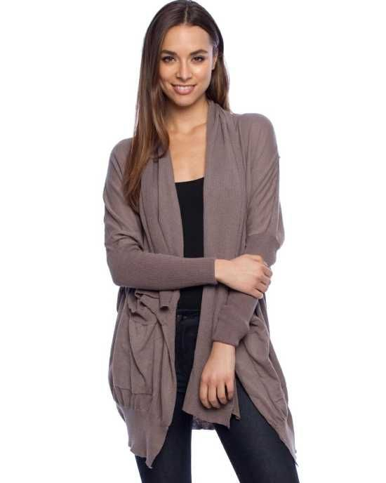 Kuto Big P Army Grey Cardigan the Womens Cardigan is a chic, cold weather cover-up.  $109.00