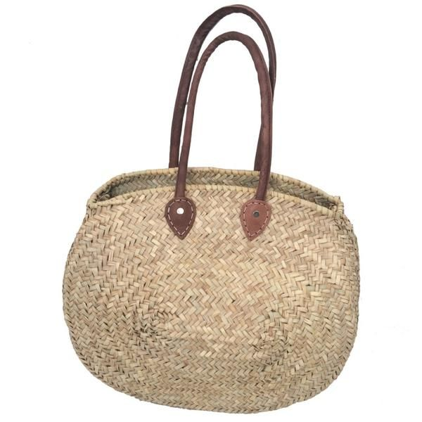 The Natural Basket Ovale can be carried by hand or worn comfortably on the shoulder. These Baskets are classic French Market Baskets. The perfect choice for sho