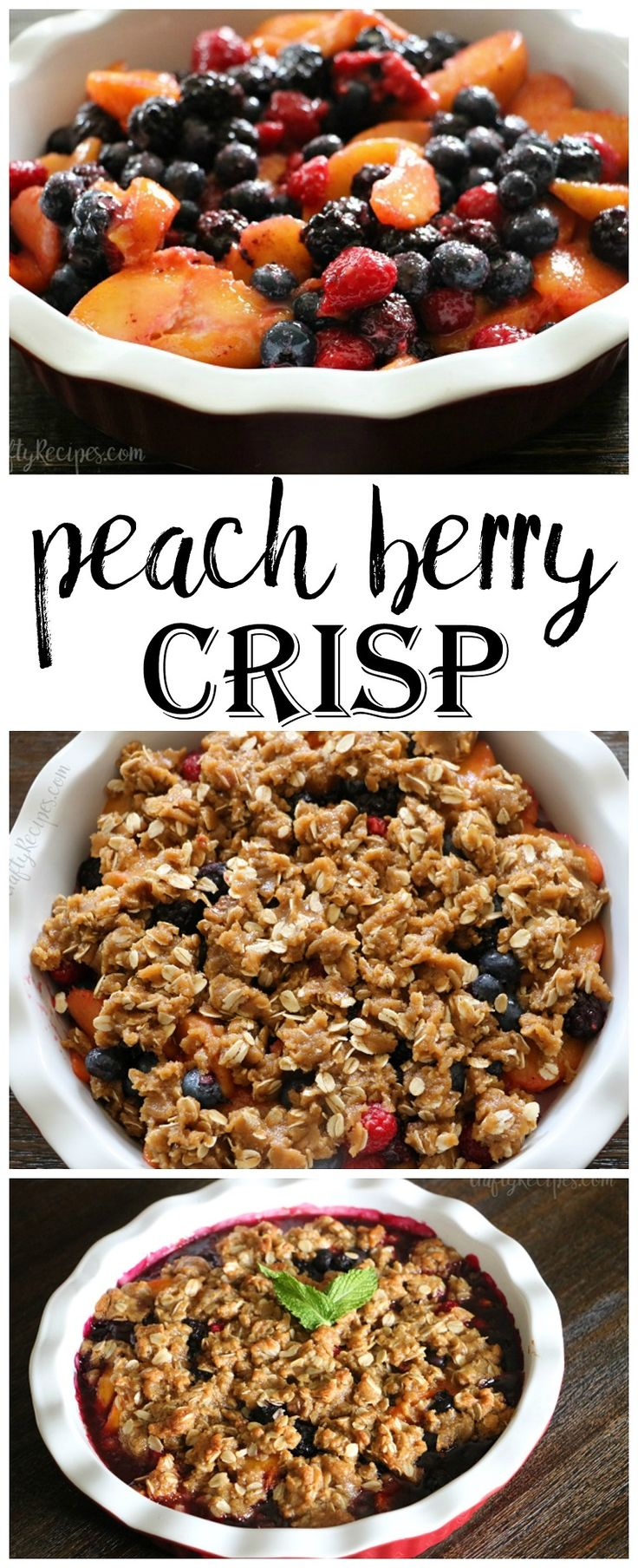 This peach berry crisp was amazing!! Perfect for a fresh summer dessert idea