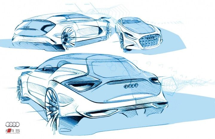 Audi design sketches by Alex Marzo
