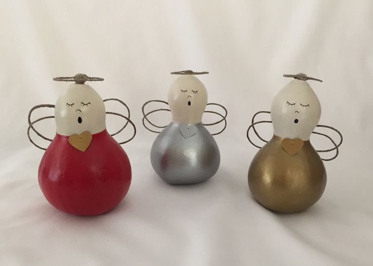 Hand Painted Gourd-Hand Painted Angel Gourd-Christmas Decoration-Holiday Decoration-Gourd Art-Angel Ornament-Angel Figurine by solomiodesigns on Etsy https://www.etsy.com/listing/260394959/hand-painted-gourd-hand-painted-angel