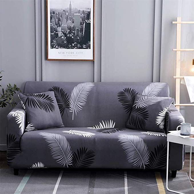 Amazon Com Hotniu Stretch Sofa Slipcover 1 Piece Polyester Spandex Fabric Couch Cover Chair Loveseat Furni Printed Sofa Slipcovers For Chairs Slipcovered Sofa