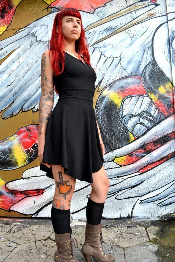 Short Sleeve High Waisted Dress Tina Dress by WhiskeyDogWares