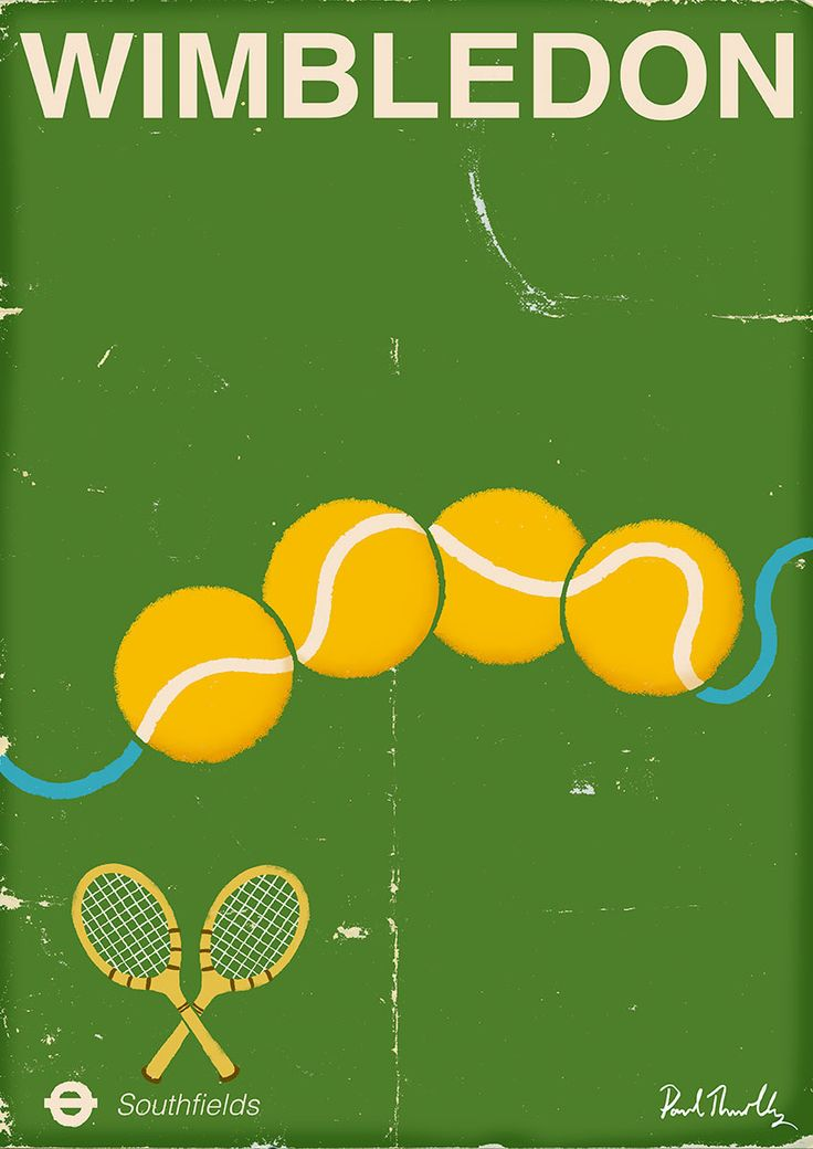 Www Paulthurlby Com Tennis Posters Tennis Artwork Wimbledon Tennis
