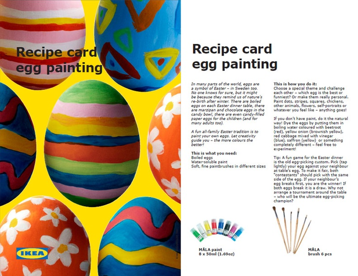 Make your Easter eggs colorful with MÅLA tools and paint!