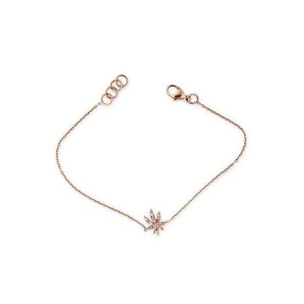 SWEET LEAF BRACELET (1 189 505 LBP) ❤ liked on Polyvore featuring jewelry, bracelets, 14k white gold jewelry, white gold jewelry, 14k bangle, leaf bangle and white gold charm bracelet