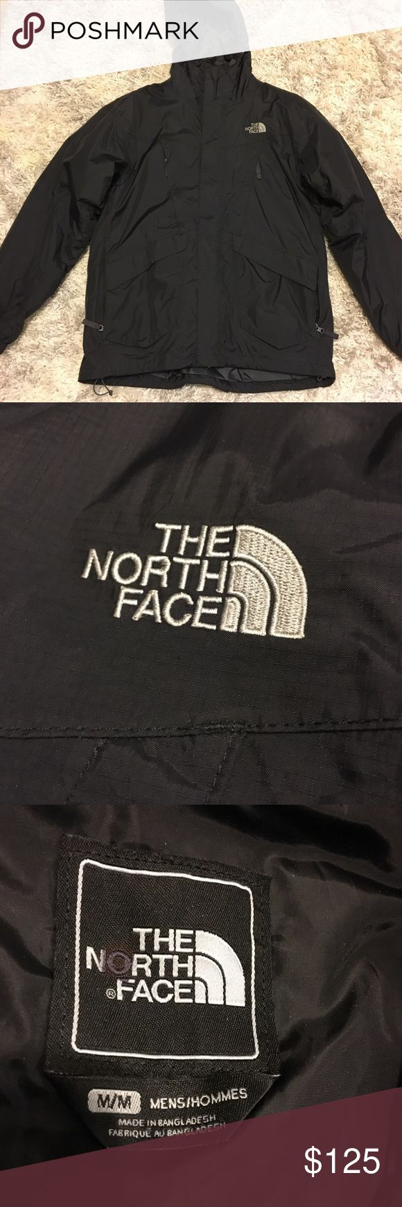 The North Face Black winter jacket. Men's M The North Face Black winter jacket. It's a men's M (fits like women's L/XL). Worn once last season. Inner liner is removable. Warm and authentic-see hologram tag. The North Face Jackets & Coats