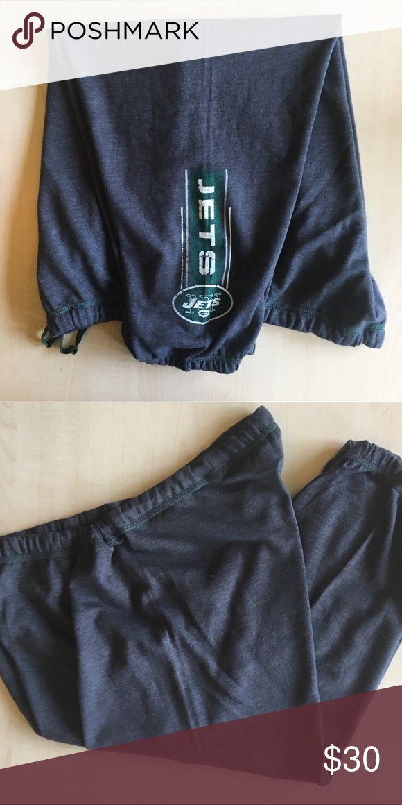 NFL Jets Team Apparel Sweatpants Casual Jogger NWOT NFL JET Team Apparel Jogger Pants Drawstring  -P- NFL Team Apparel Pants Track Pants & Joggers