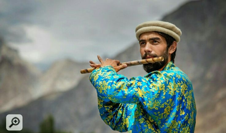Flute Player Hunza Valley Gilgit Pakistan