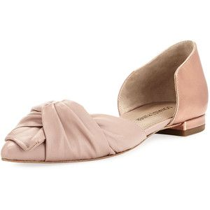 Donald J Pliner Pennie Ruched Leather d'Orsay Flat