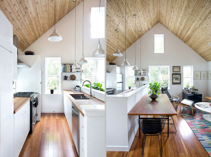 """Another approach to the tiny house - """"accessory dwelling unit"""" in Portland, Oregon, also called a granny flat. A 660sf cottage built by Lenore Prato & Ken Finney for her parents, that sits behind their own house."""