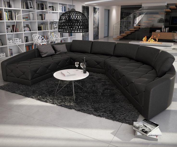 Wohnlandschaft Menexia 380x290 Schwarz Dieses XXL #Sofa Ist So  Beeindruckend Stilvoll, Dass Es Deinen