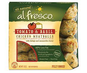 al fresco® Product - Fully Cooked Chicken Meatballs - Tomato & Basil #sautebetter