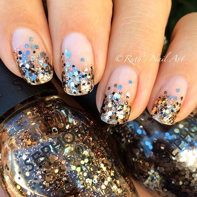 Glitter Gradient #nails #ruthsnailart #nailart