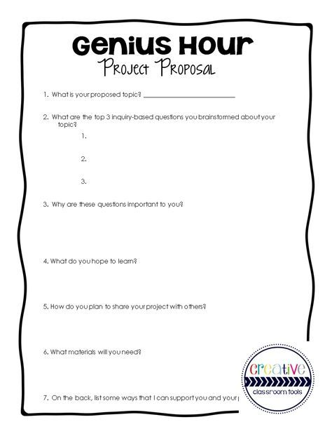 25+ best ideas about Genius hour on Pinterest | Passion project ...